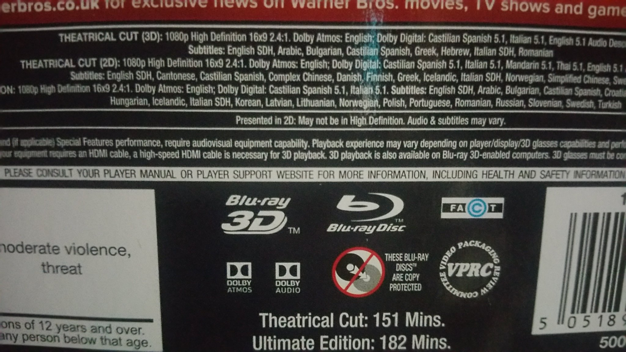 Question - How do I tell if a Blu-Ray disk is Atmos/DTS:X