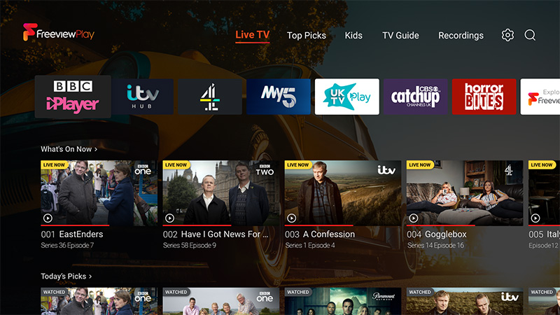 With Freeview Play built in