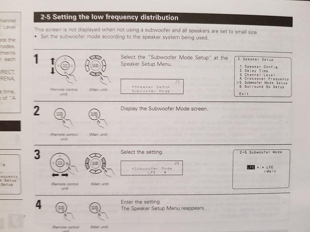 Denon AVR-3805 Not Detecting KEF PSW2010 | AVForums