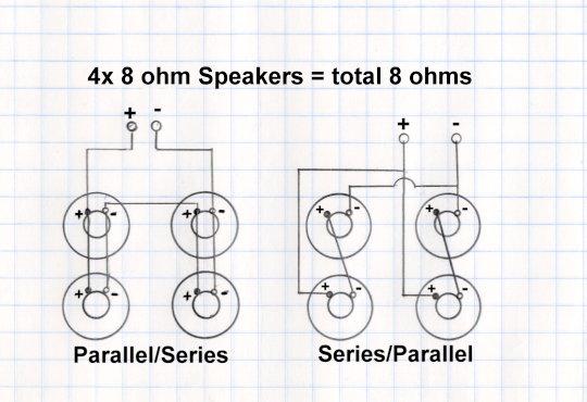 speaker wiring diagram in ohms connecting 4 drivers to amp avforums  connecting 4 drivers to amp avforums