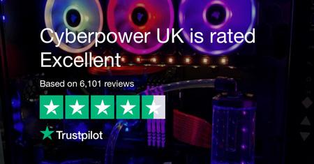 Cyberpower UK score at Trustpilot