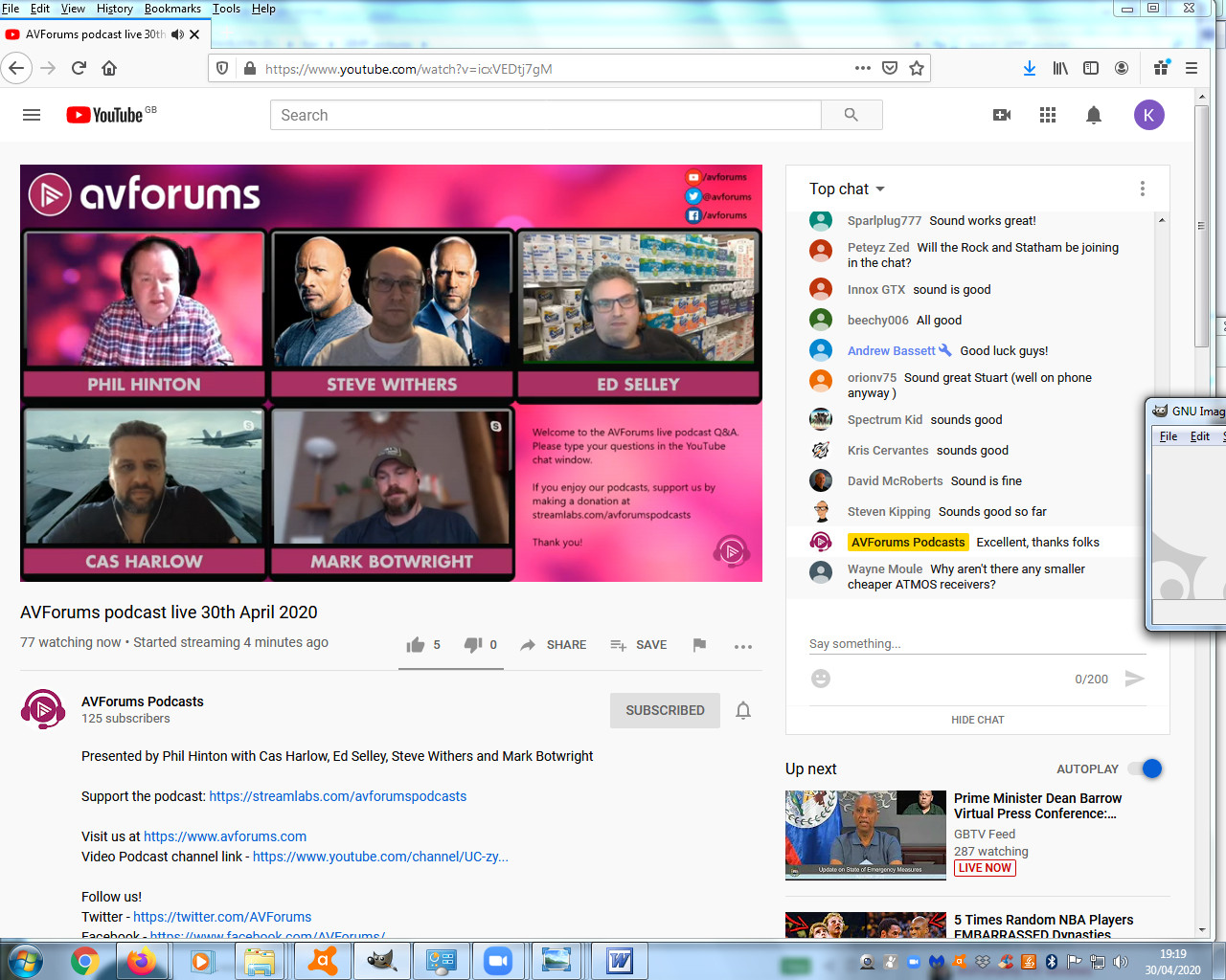 AVForums podcast, video live.jpg