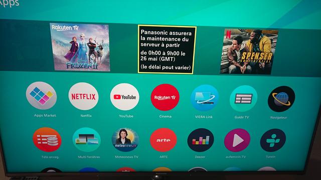 Panasonic Apps Market Network Services 2020 Maintenance Avforums