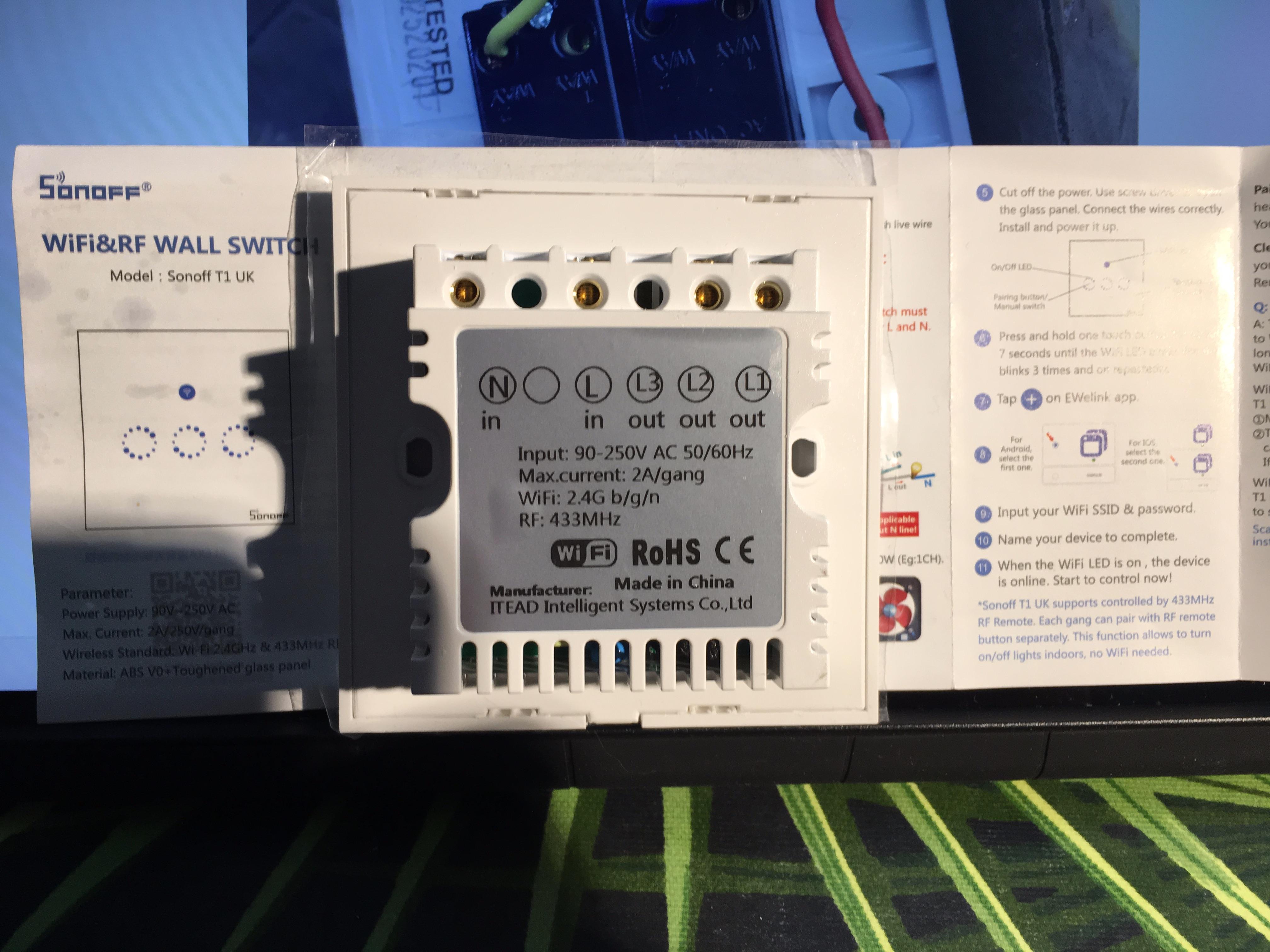 Sonoff light switch wiring | AVForums