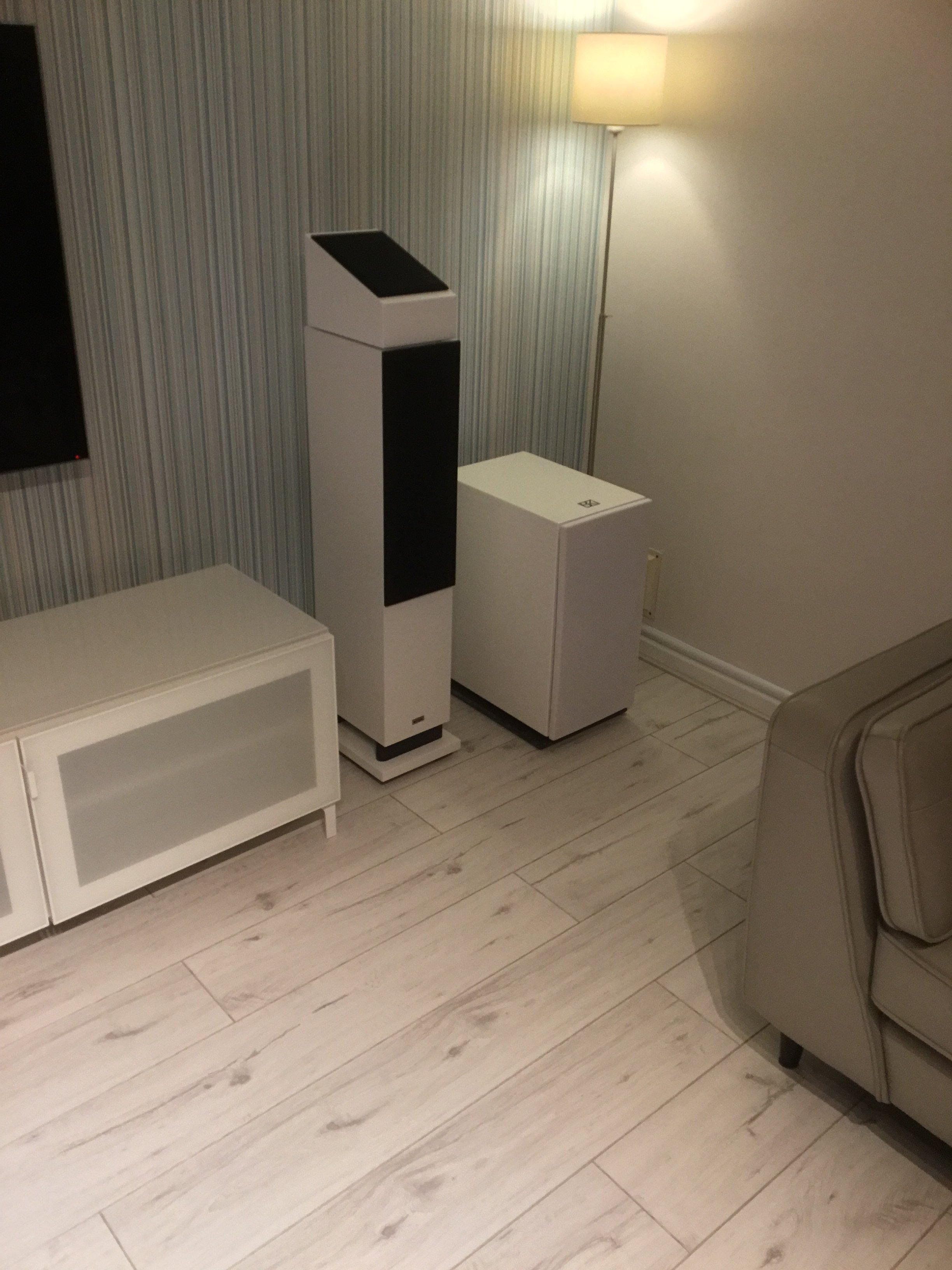 Replacing black speaker grill material for white | AVForums