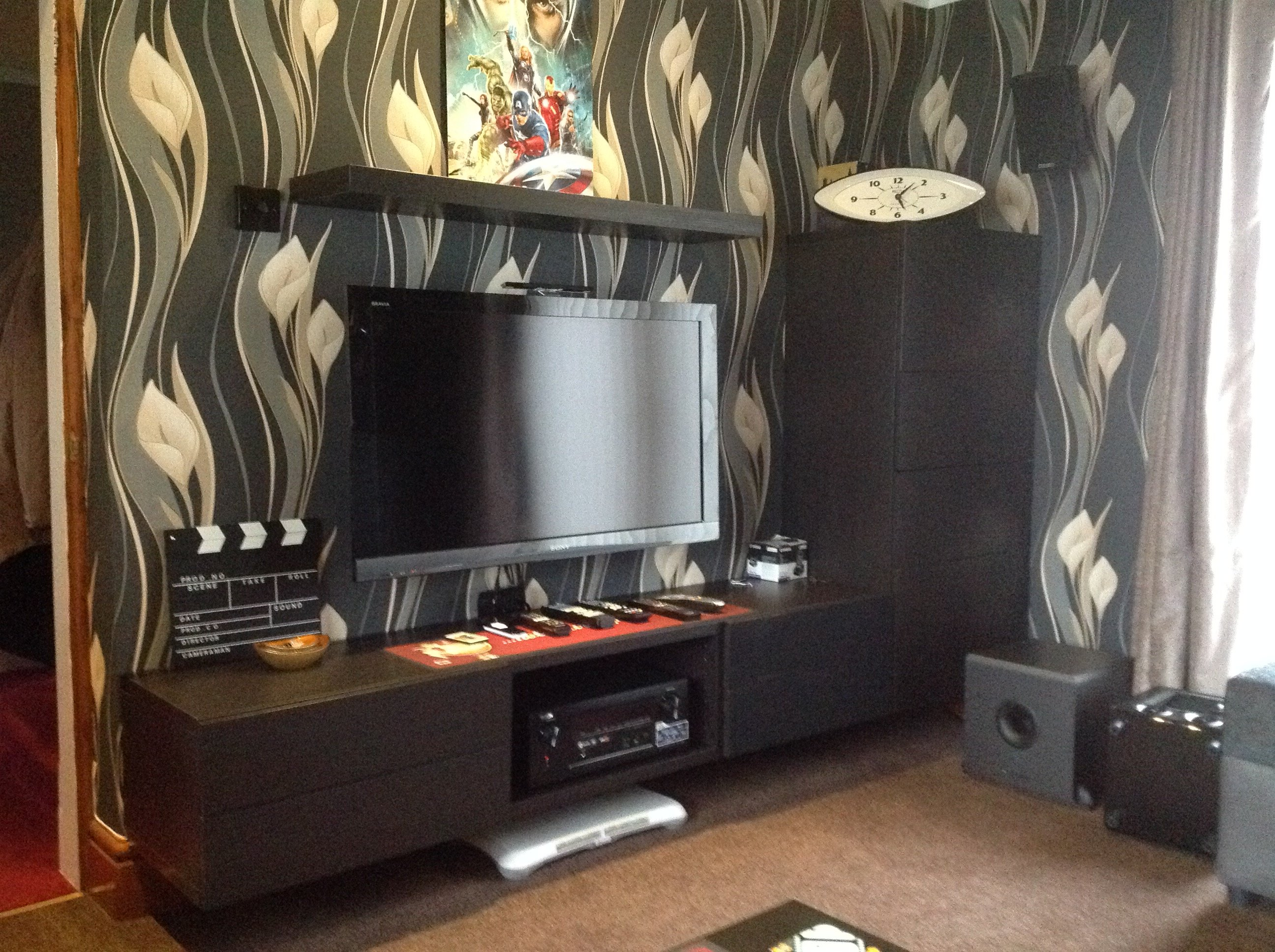 IKEA Besta TV Bench on wall & cable management tips