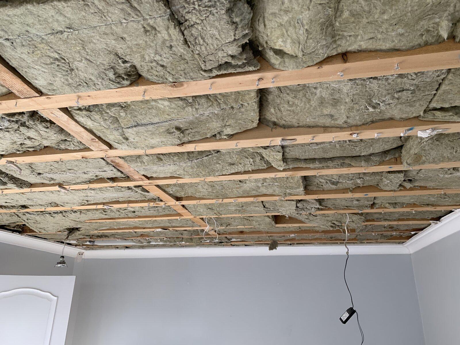 original ceiling removed