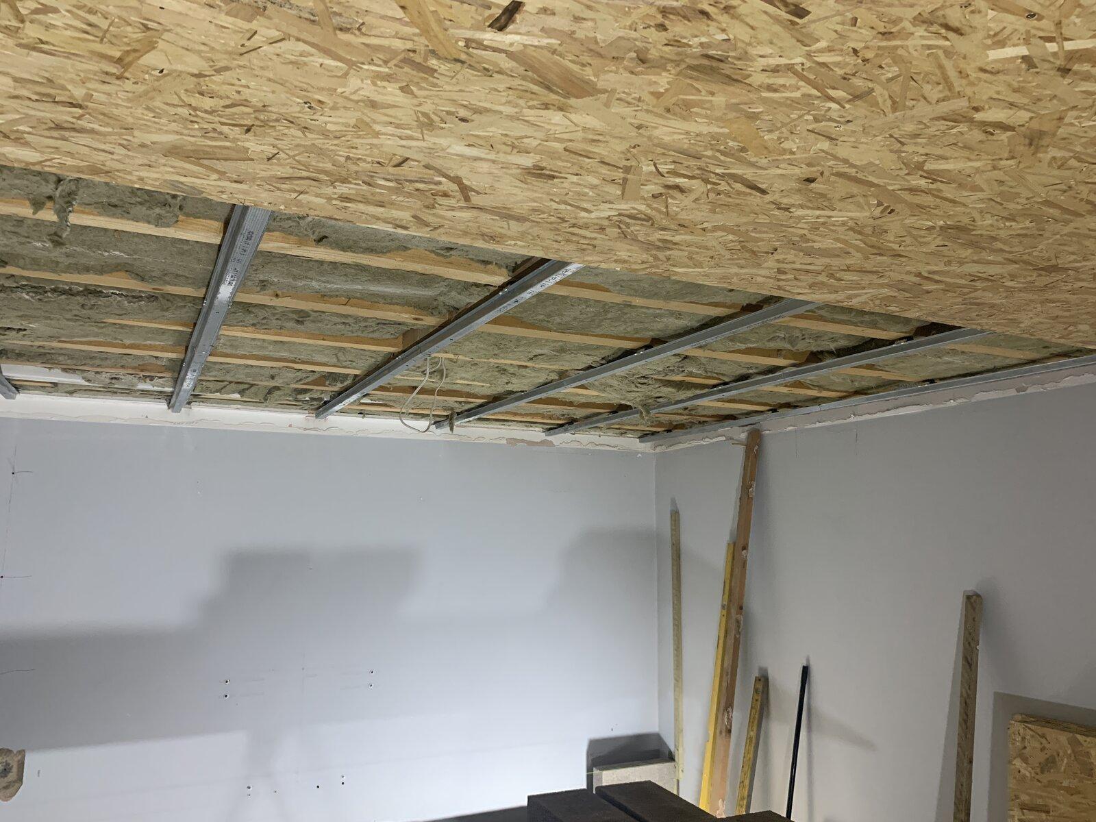 18mm OSB board on ceiling