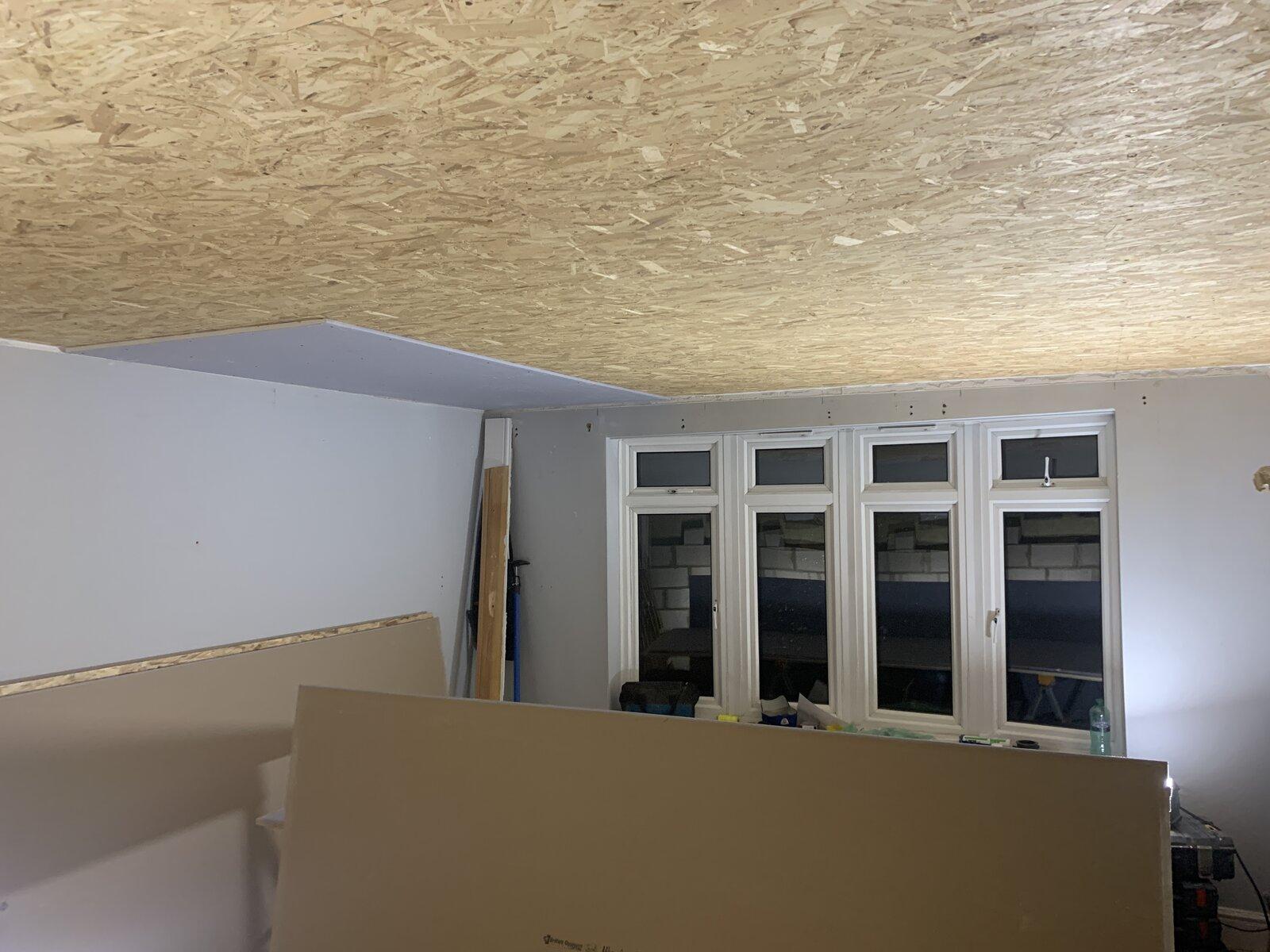 Green Glue + 15mm SoundBloc plasterboard on ceiling