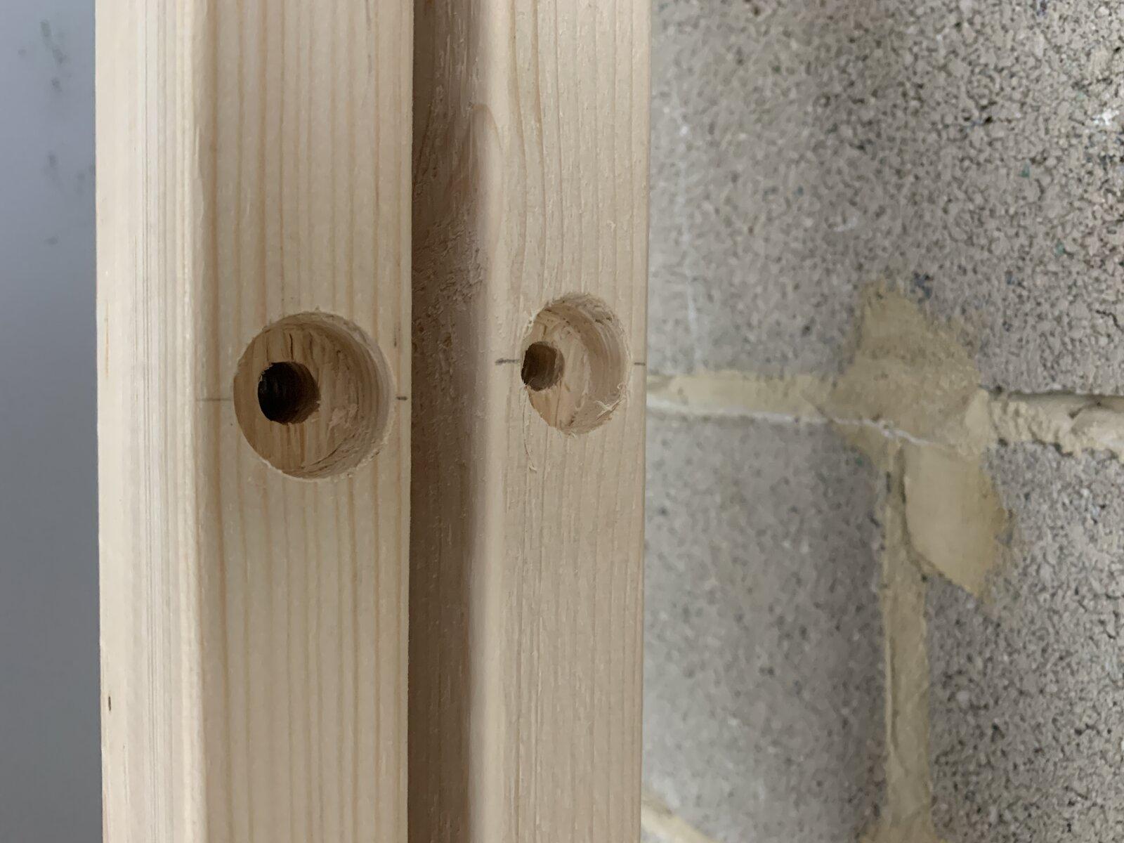 recessed holes for concrete screws
