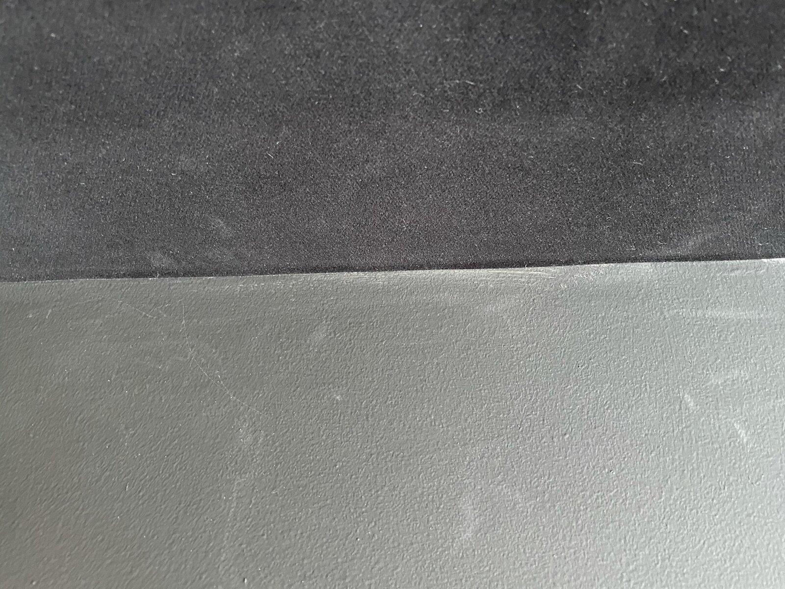black wall paint vs adhesive flock velvet
