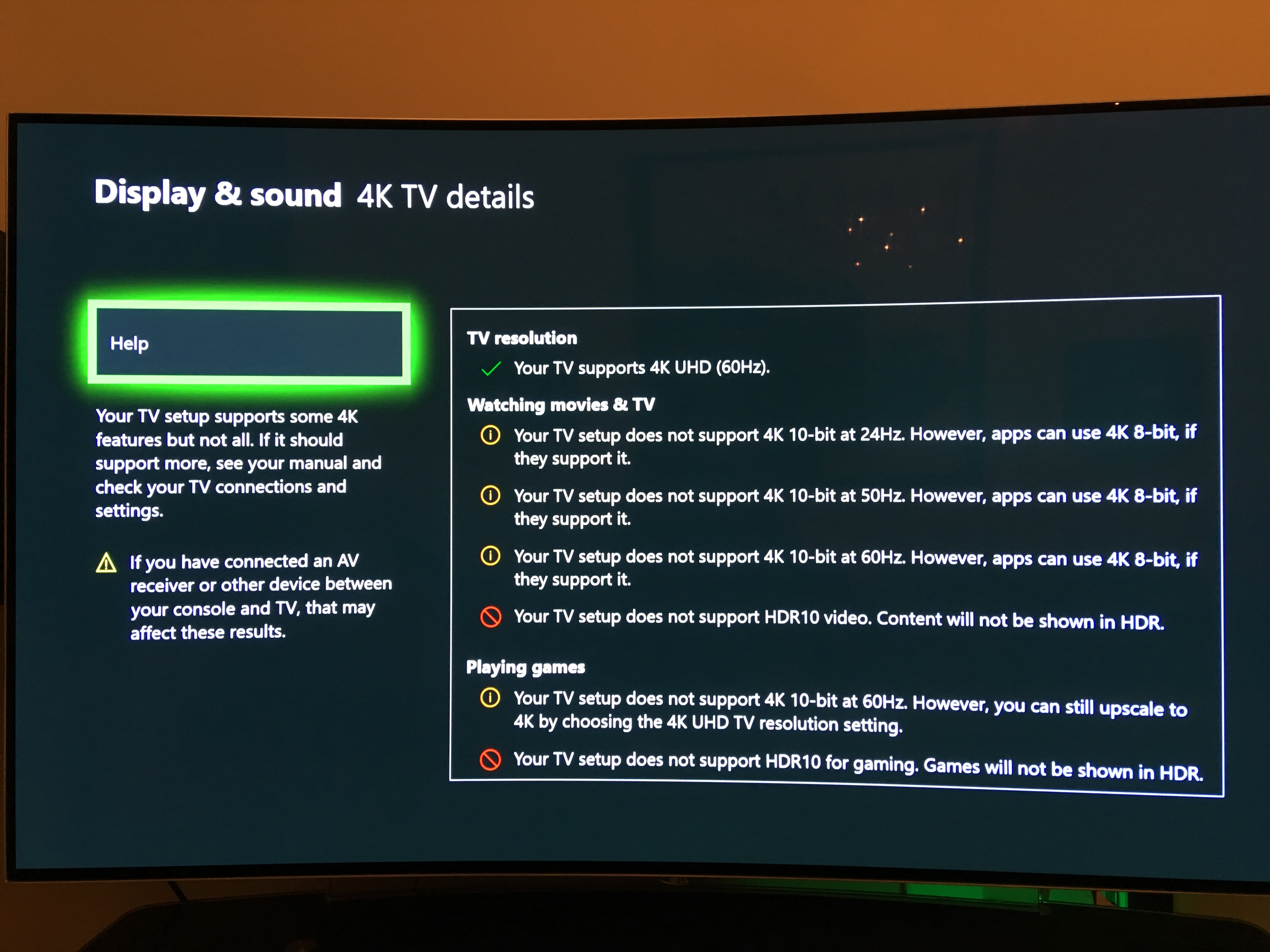 Answered - Xbox One X 4K problems with TV & AV receiver
