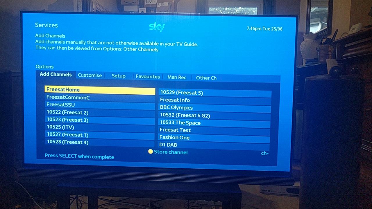 Add non freesat channels humax foxsat