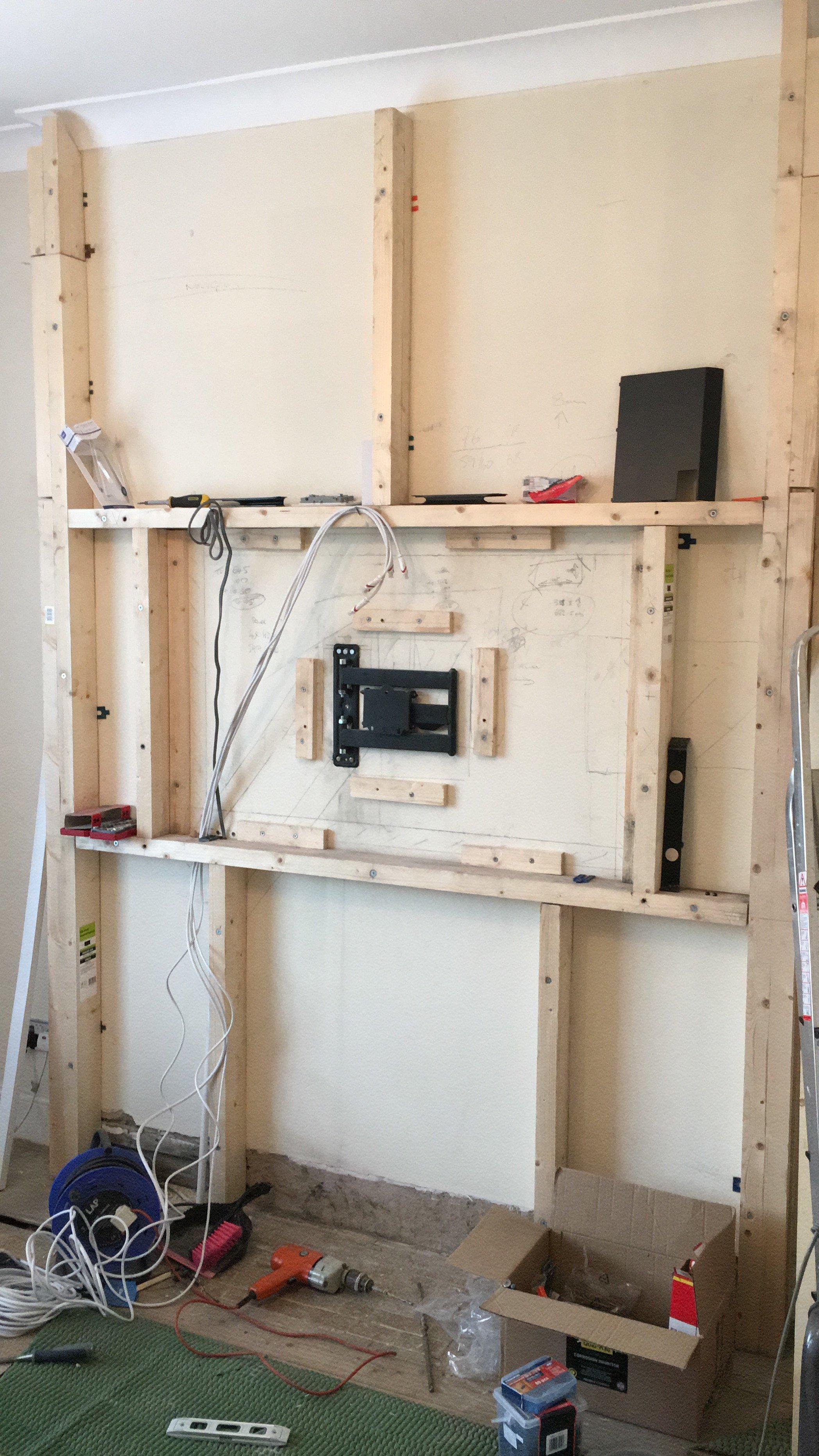 False Tv Wall Diy Project Avforums