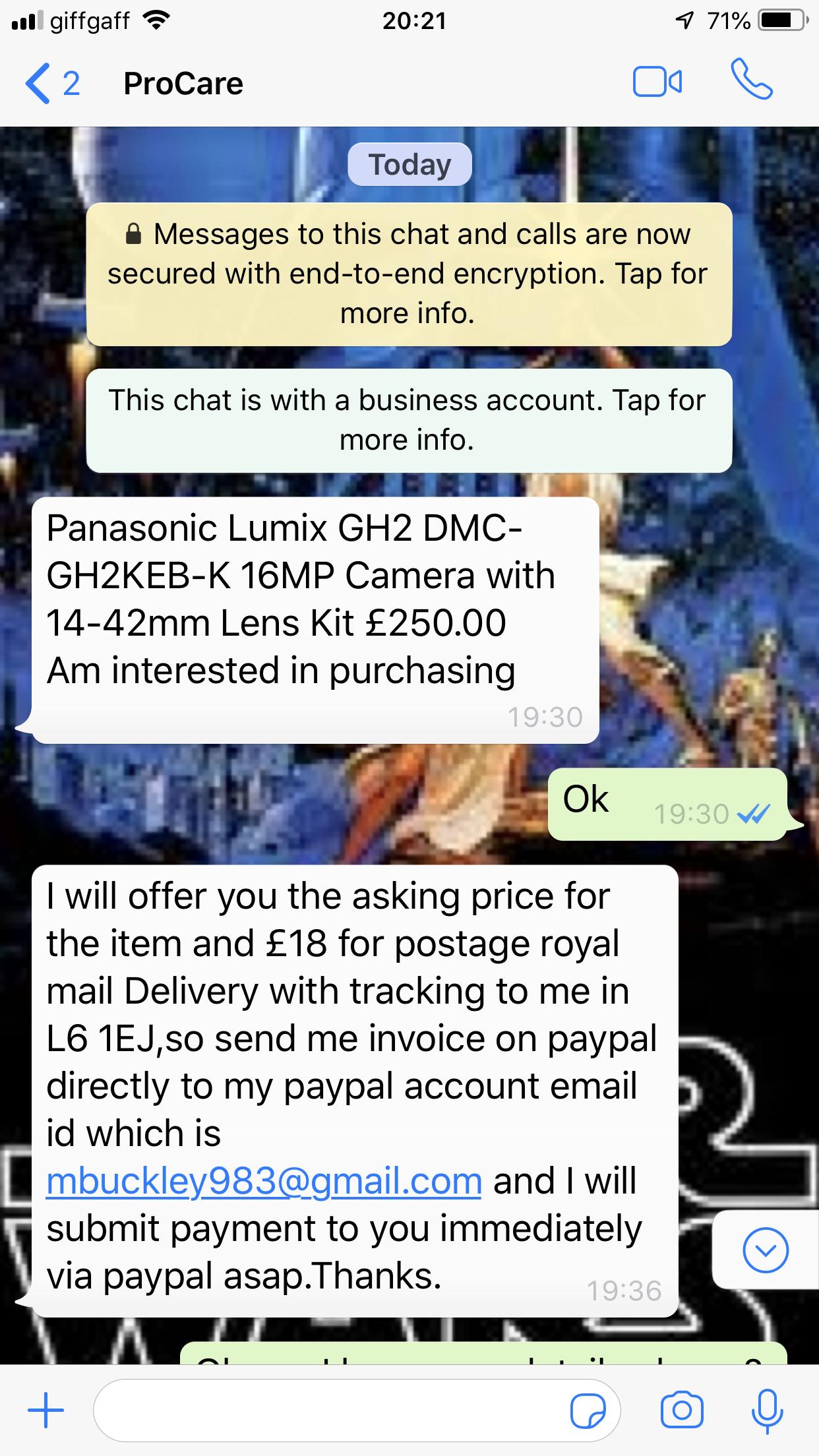 Paypal Gumtree Fraud Scammer 19 Walker Street Liverpool Avforums