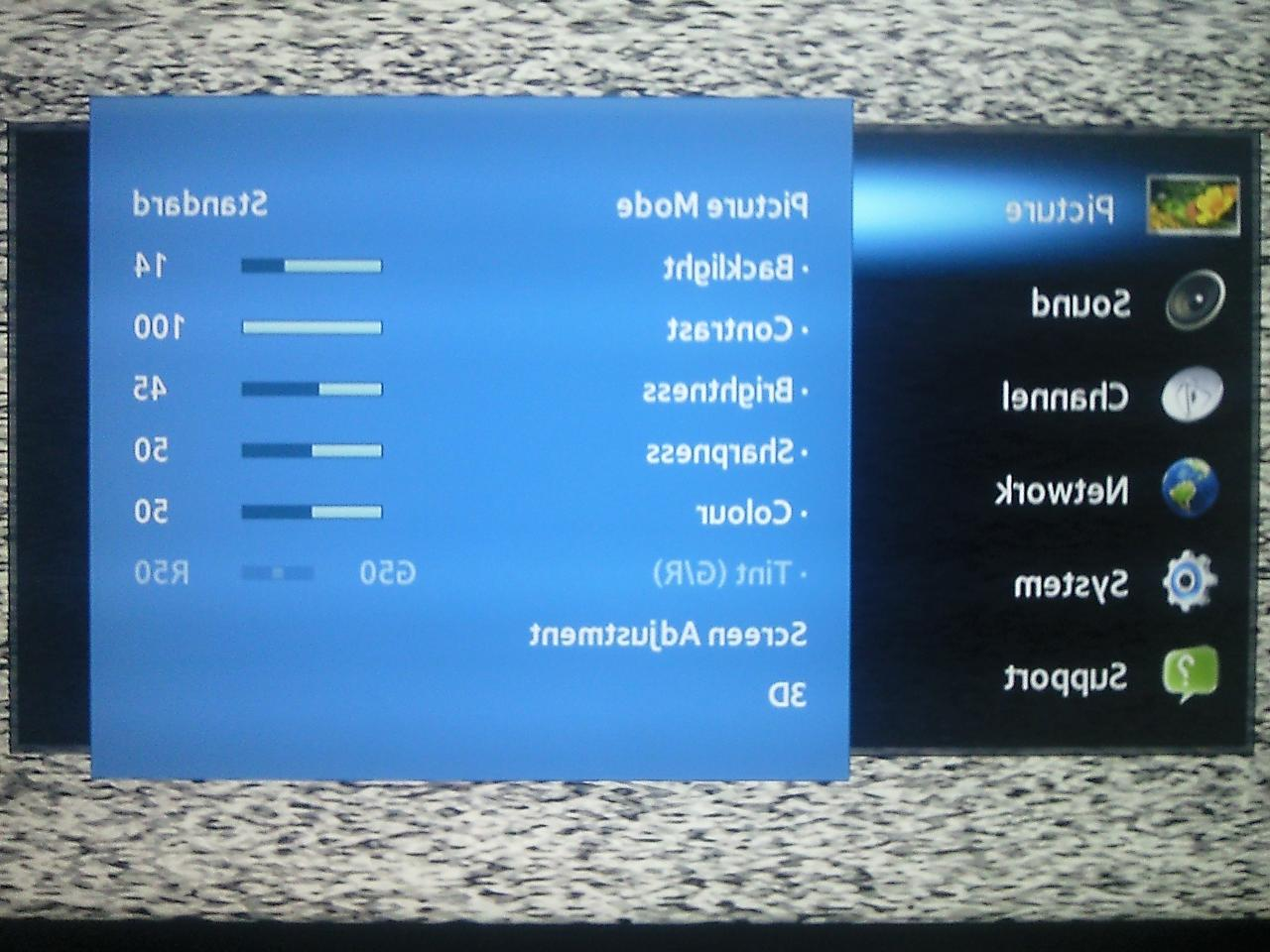 Samsung UA40EH6030 LED TV - Where can I find service menu default