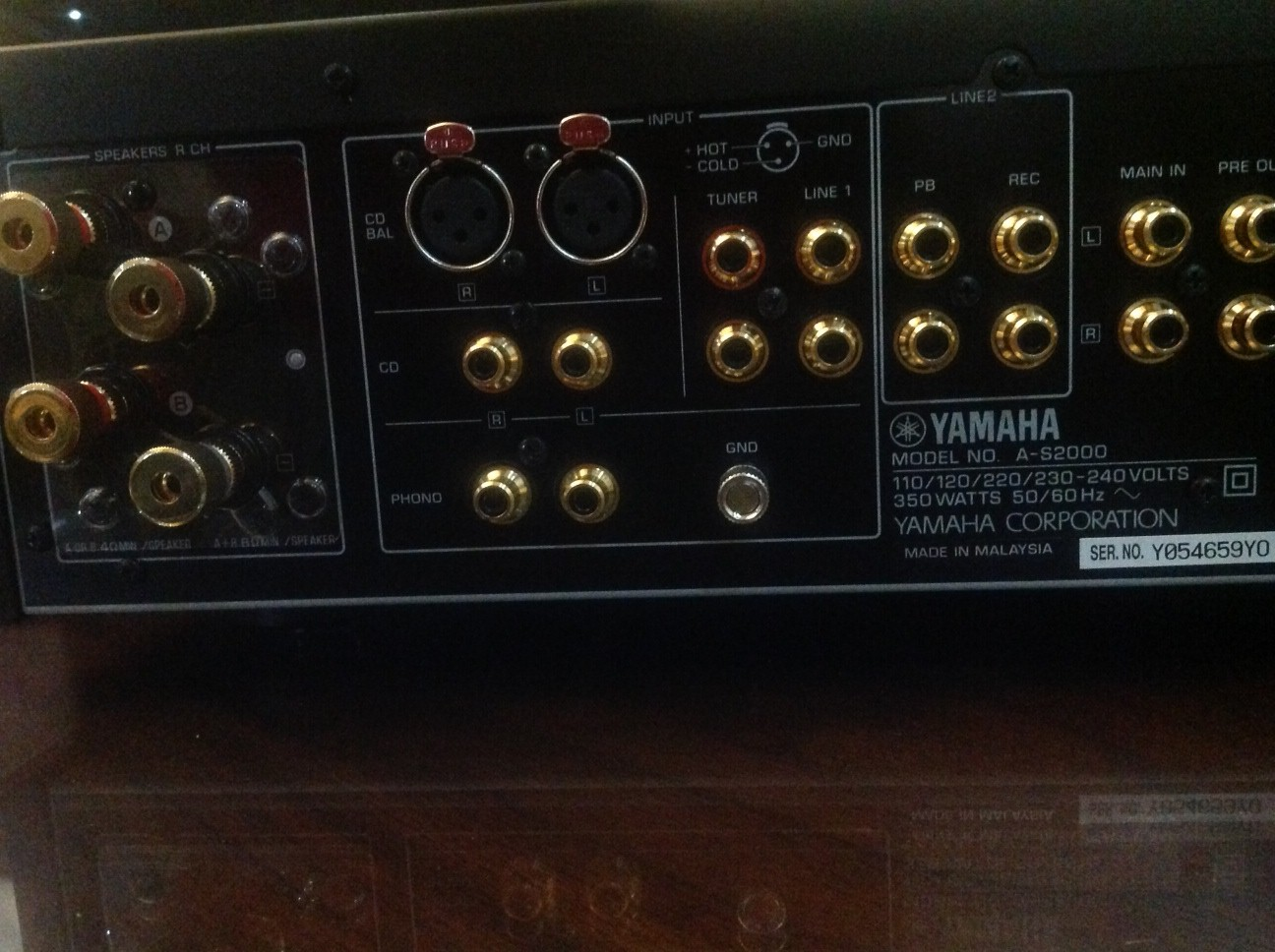 Problem With YAMAHA A-S2000 Amplifier | AVForums