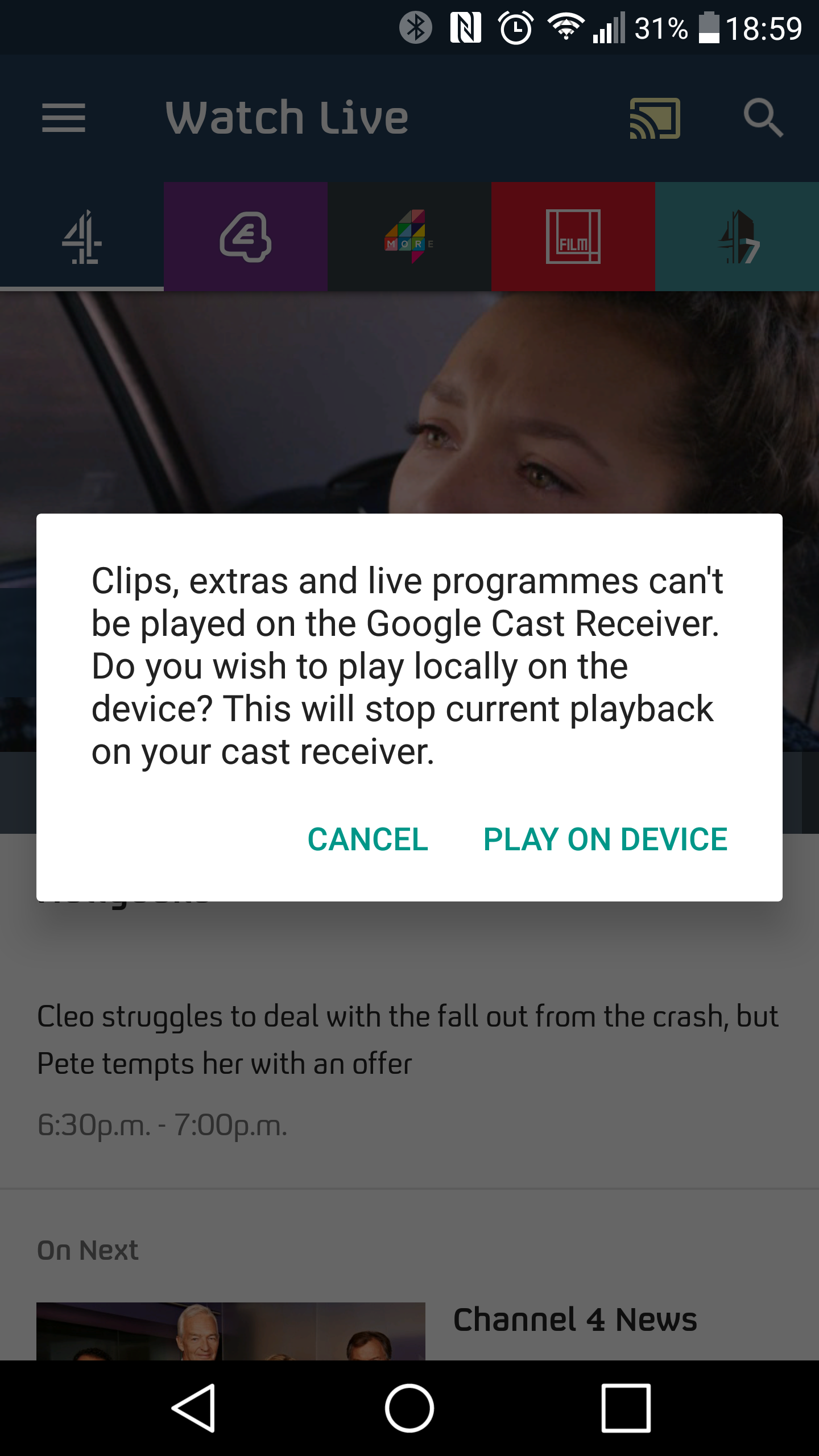 Live C4 on a Chromecast? | AVForums