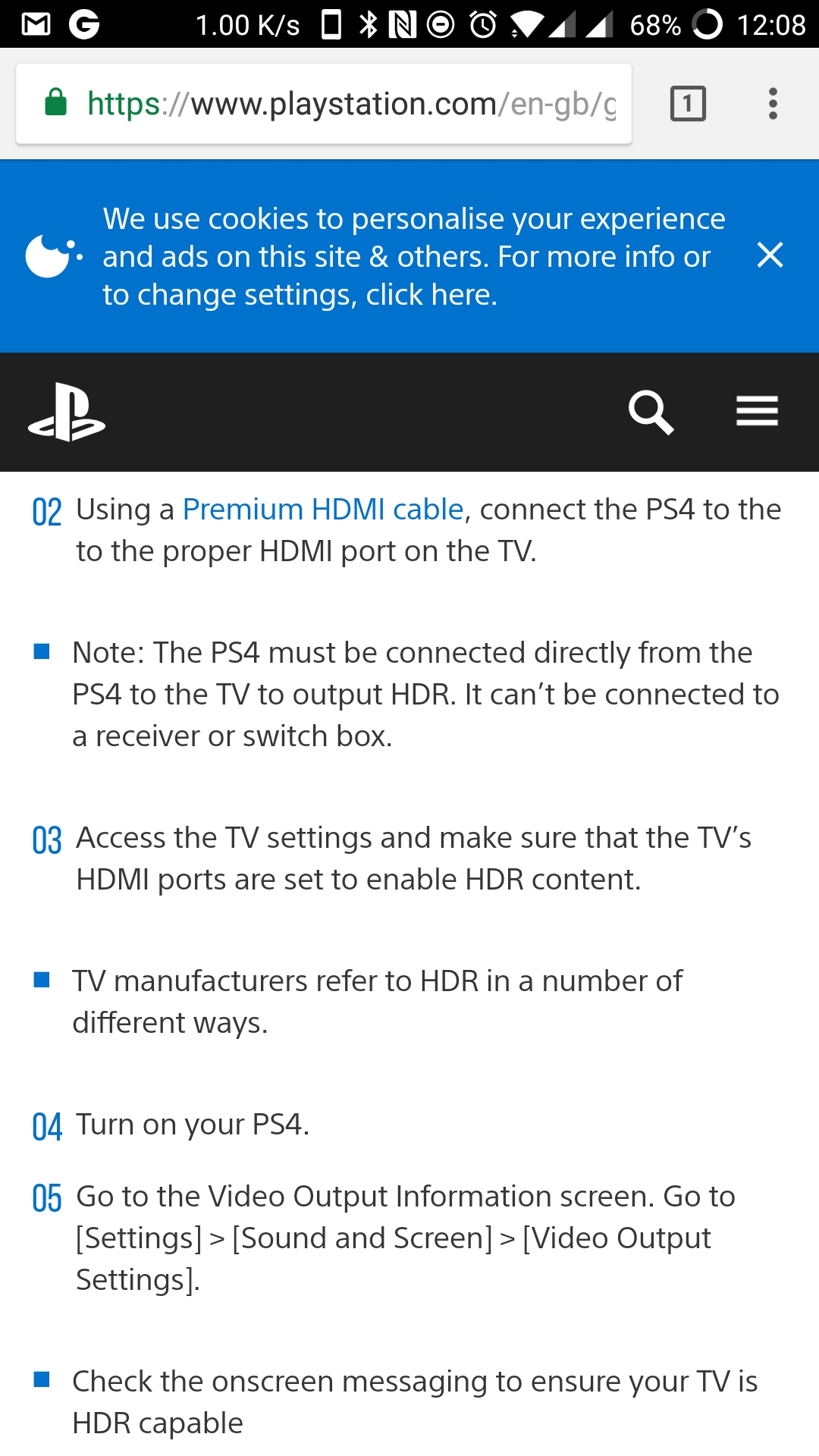 Question - RX-V483 HDCP 2 2 and Deep Colour/HDR Issues