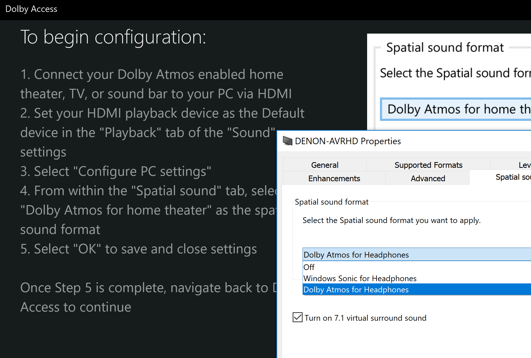 Question - Windows 10 settings for Atmos out   AVForums