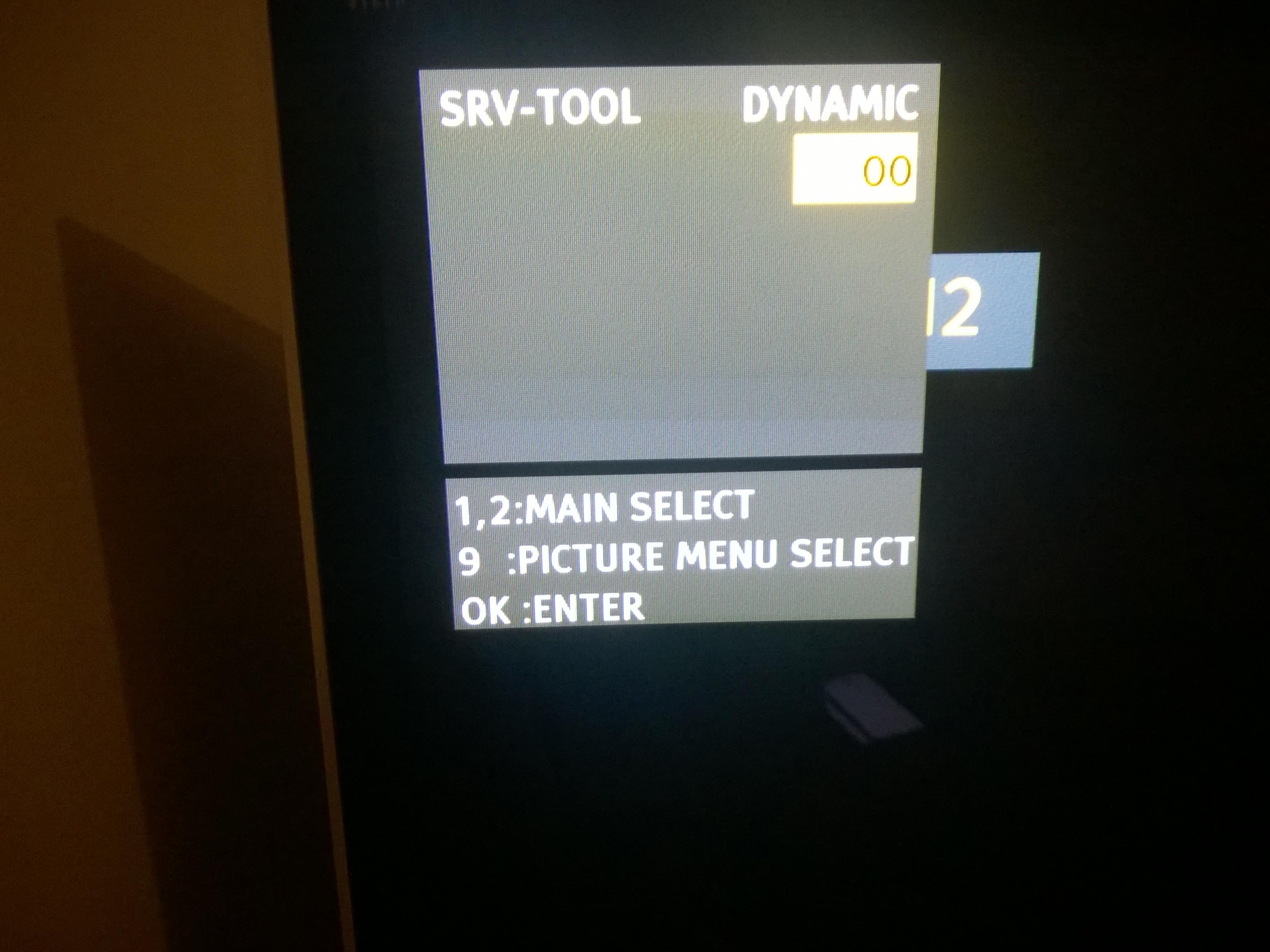 Panasonic Service menu | AVForums