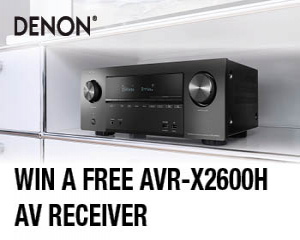 Win a Denon AVR-X2600H AV Receiver worth £599