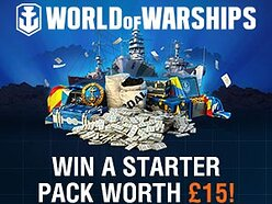 Win a 'World of Warships' Starter Pack worth £15 (unlimited number to be won)