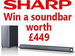 Win a SHARP HT-SBW800 - Dolby Atmos Soundbar with Wireless Subwoofer worth £449