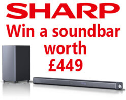 Win a SHARP HT-SBW800 - Dolby Atmos Soundbar with Wireless Subwoofer worth £449 (round 2)