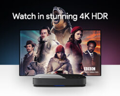 Get up to 4x the picture quality of 1080p with stunning 4K resolution and brighter colours than ever with HDR10 support.