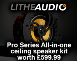 Win Lithe Audio Pro Series All-in-one ceiling speaker kit worth £599.99