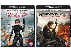 Win copies of Resident Evil: Retribution and Resident Evil: The Final Chapter on 4K Ultra HD