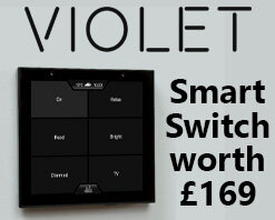 Win one of three VIOLET SmartSwich Lite Home Control Panels, worth £169
