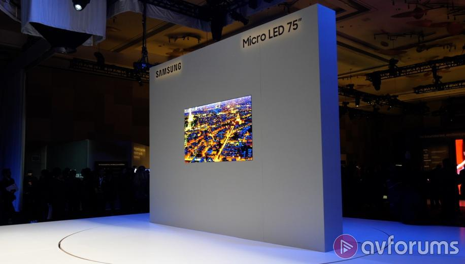 Video Samsung Unveils 75 Inch Micro Led Tv At Ces 2019 Avforums