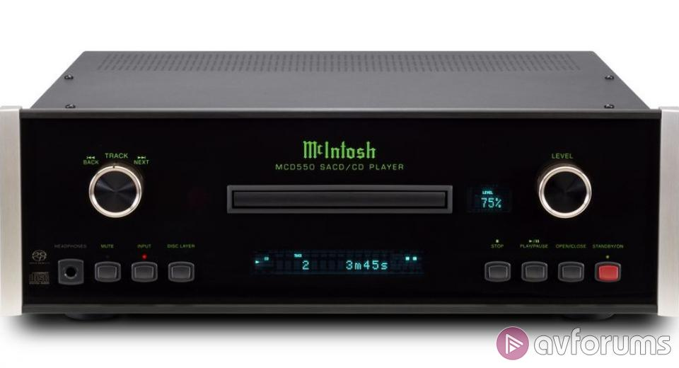 McIntosh launches new MCD550 SACD/CD player