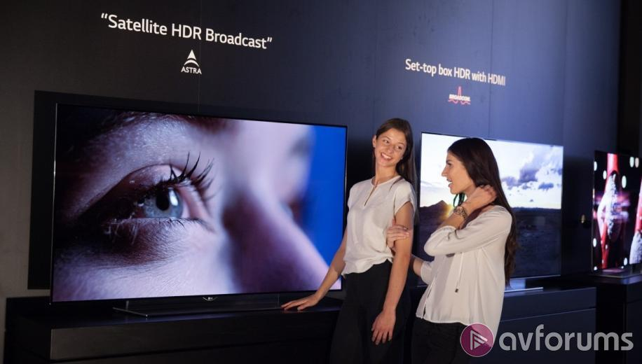 LG Demo BBC HDR Content on 4K OLED TVs