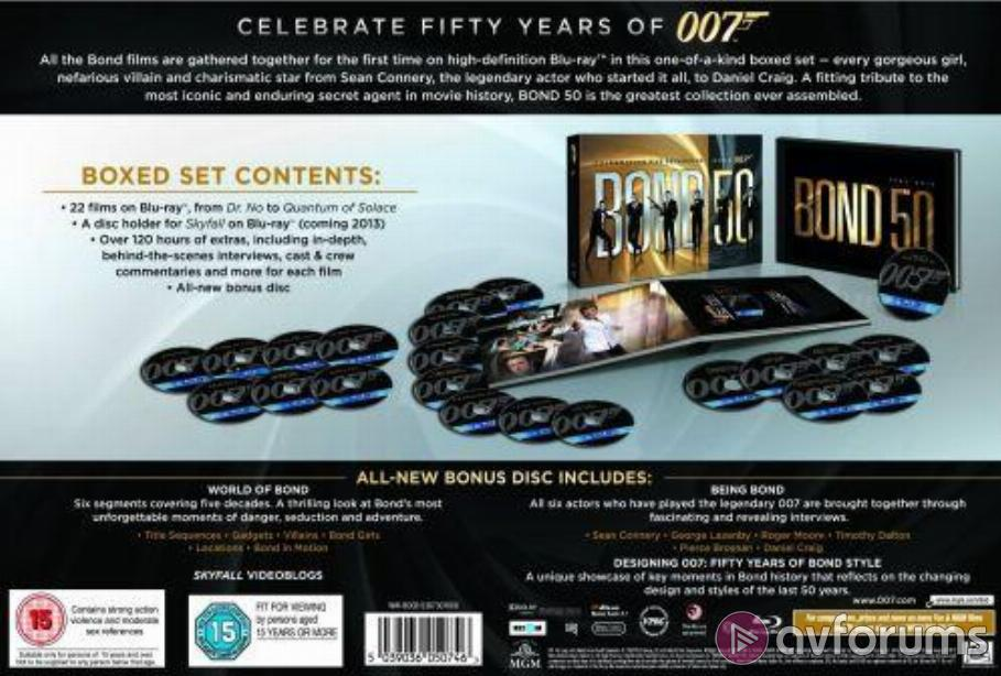 Bond 50 - Celebrating Five Decades of Bond 007 Blu-ray Review