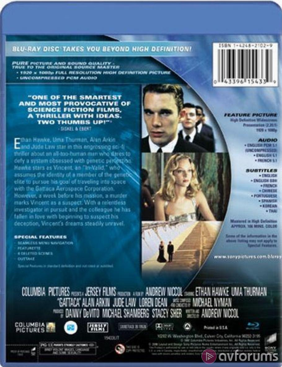 Gattaca Blu-ray Review
