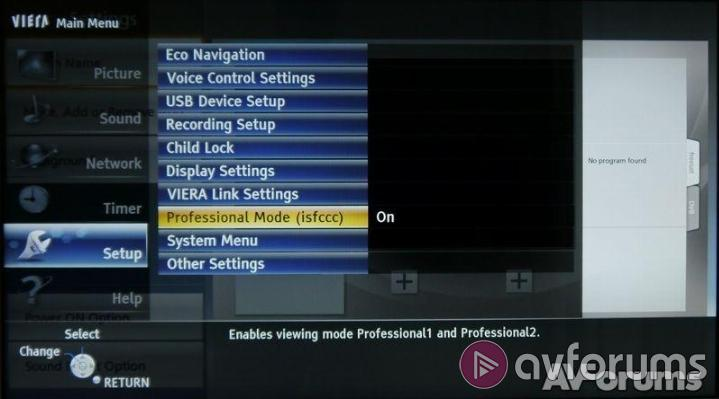Panasonic TX-L42FT60B Menus and Features