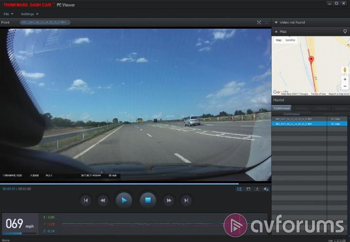Thinkware X550 Dashcam Viewer PC Software