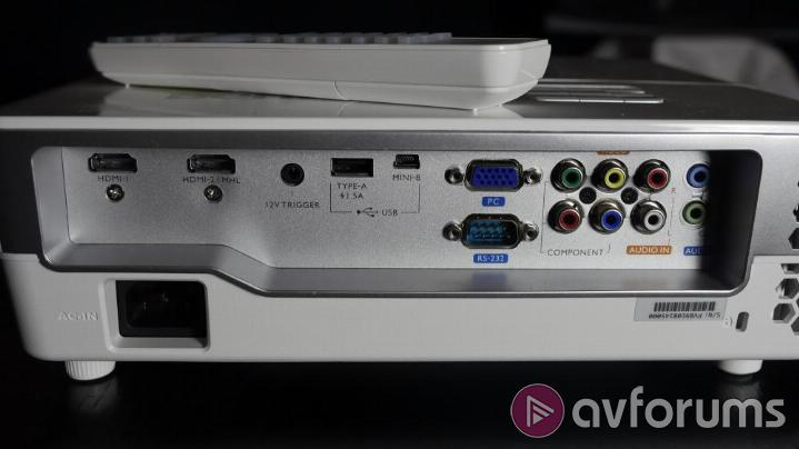 BenQ W1080ST+ Connections