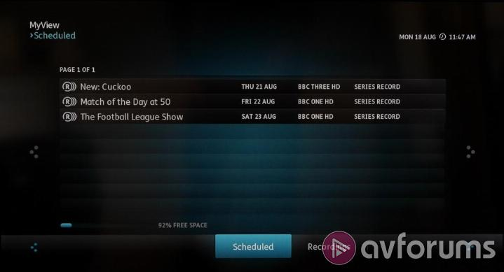 Humax YouView DTR-T2000 DTR-T2000 Freeview PVR Functionality