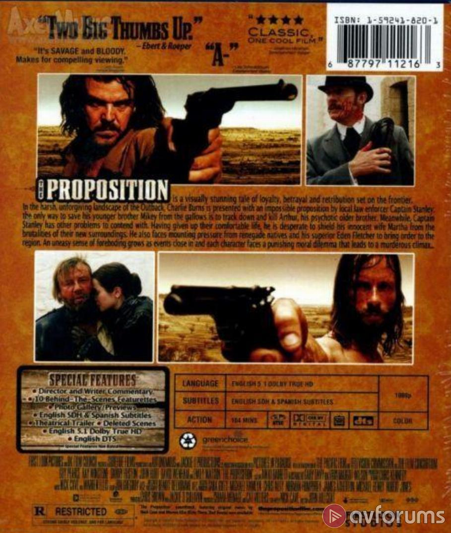 The Proposition Blu-ray Review