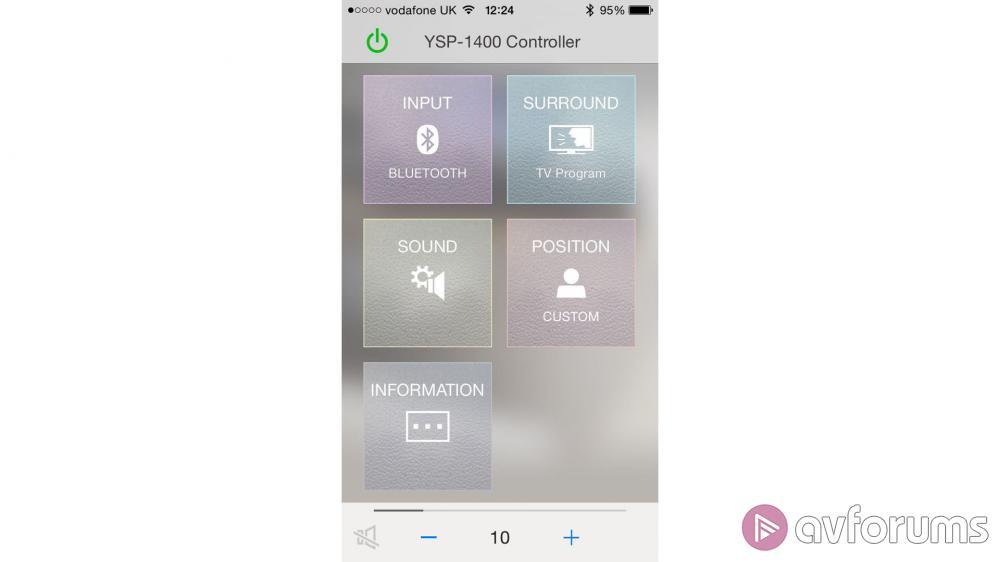 Yamaha ysp 1400 soundbar review avforums for Yamaha ysp 1400 app