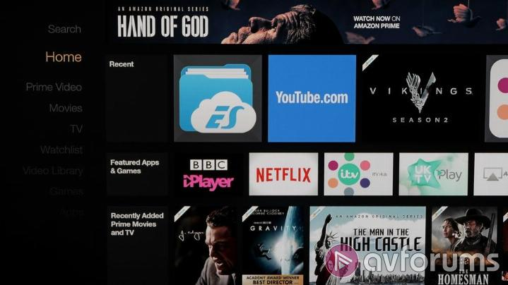 Amazon Fire TV (2015) Launcher and User Interface