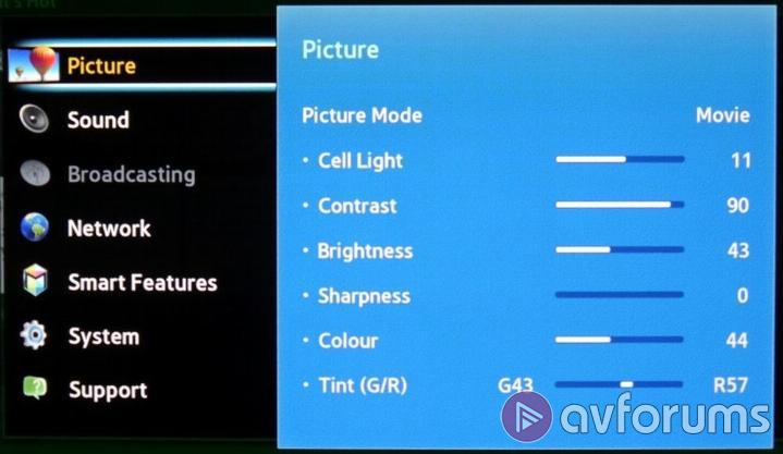 Samsung Ps60f5500 F5500 Plasma Tv Review Avforums