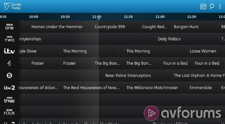 Humax YouView DTR-T2000 DTR-T2000 Mobile App