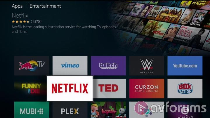 Amazon Fire TV 3rd Gen Internet Streaming Apps