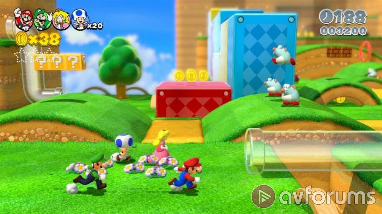Super Mario 3D World In with the new