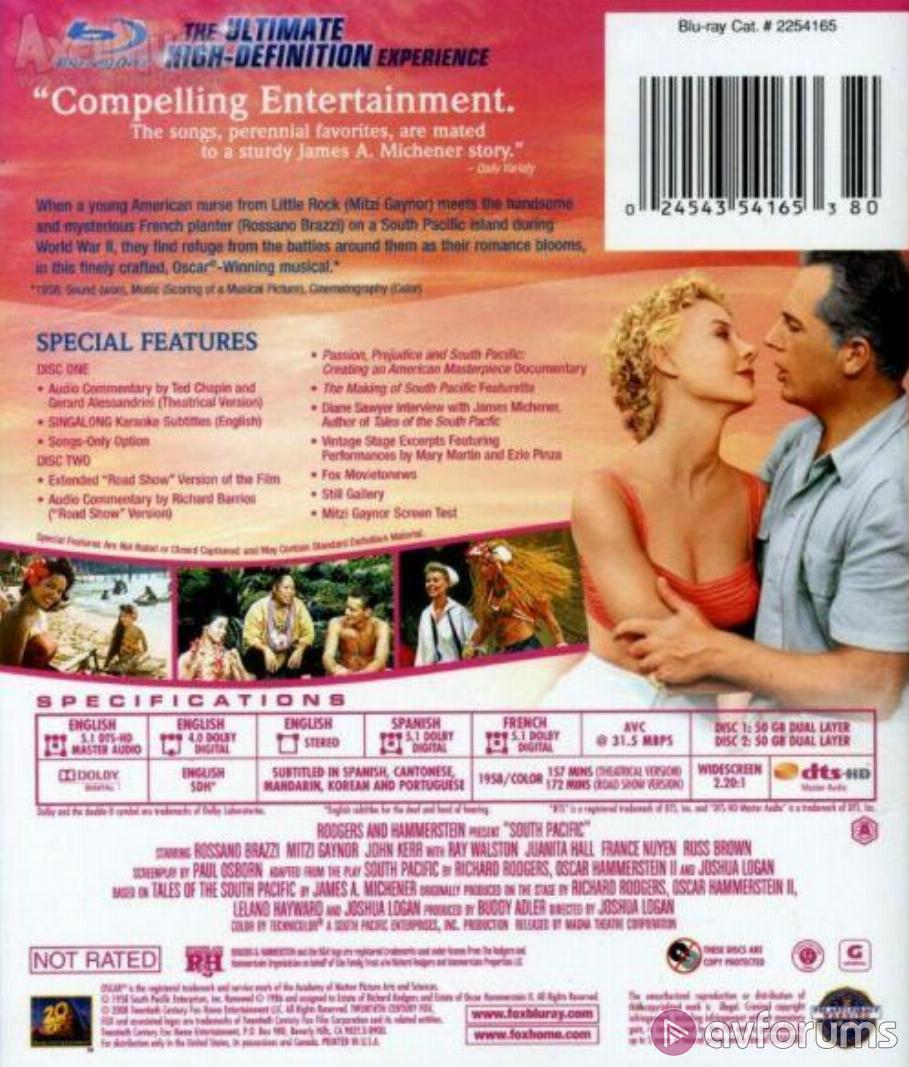 South Pacific Blu-ray Review